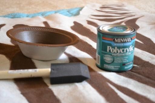 sealing a rug