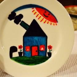 paint ceramic plate