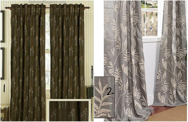linen curtain, Neutral Family Room