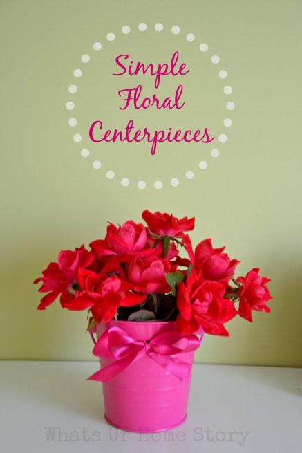 Simple Floral Centerpieces, simple flower arrangements