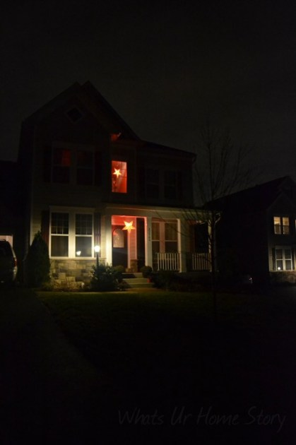 Whats Ur Home Story: Star Paper Lantern, Outside Christmas Decor,christmas decorating