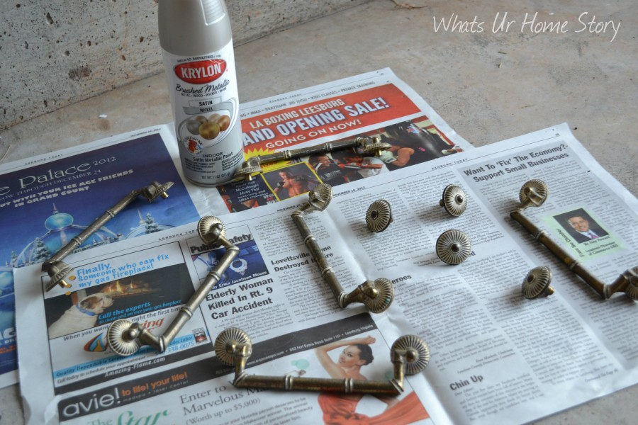 Whats Ur Home Story: Painting Dresser Hardware