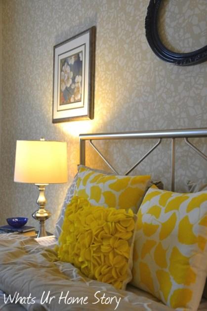 Whats Ur Home Story: Felt Circles Pillow, ginkgo pillows