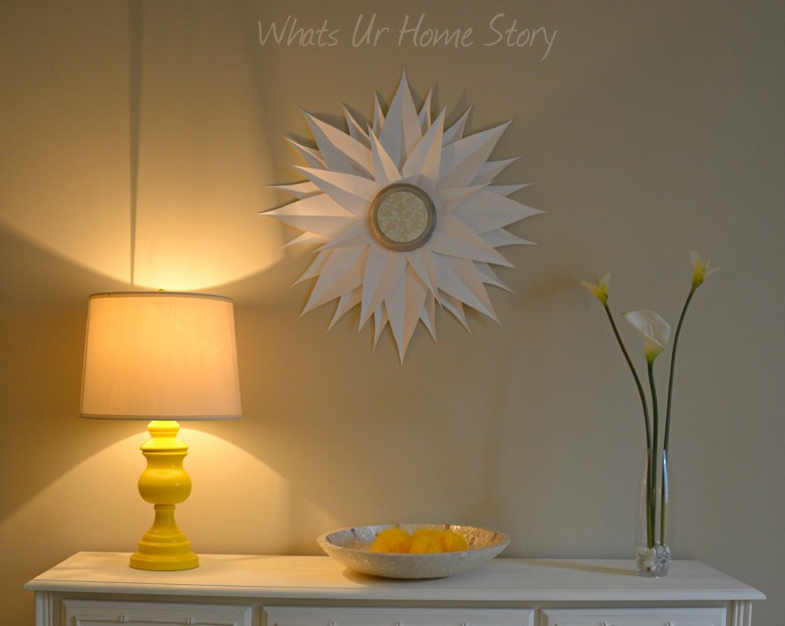 Whats Ur Home Story: Lamp Makeover, spray paint a lamp, yellow lamp,Thrift Store Lamp Makeover