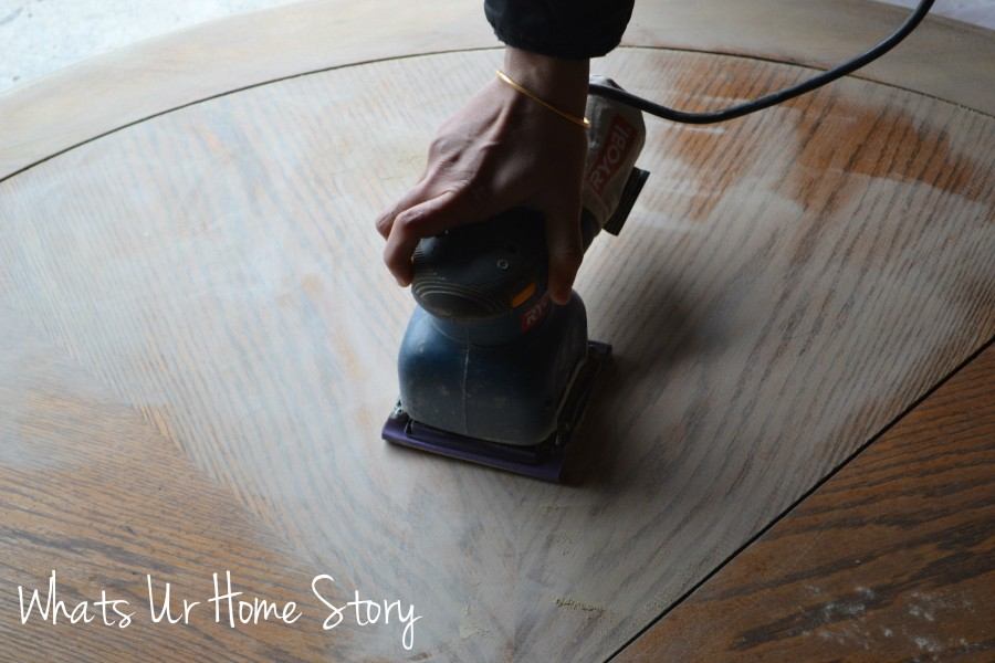 Whats Ur Home Story: How to sand a table top; how to refinish a table