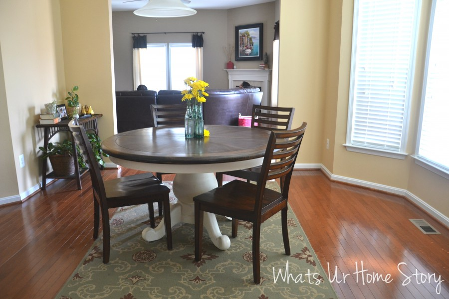 Whats Ur Home Story: Round pedestal table
