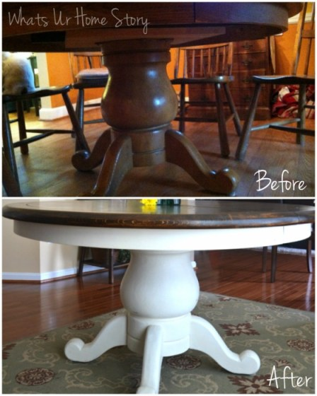 Whats Ur Home Story: Annie Sloan chalk paint table makeover