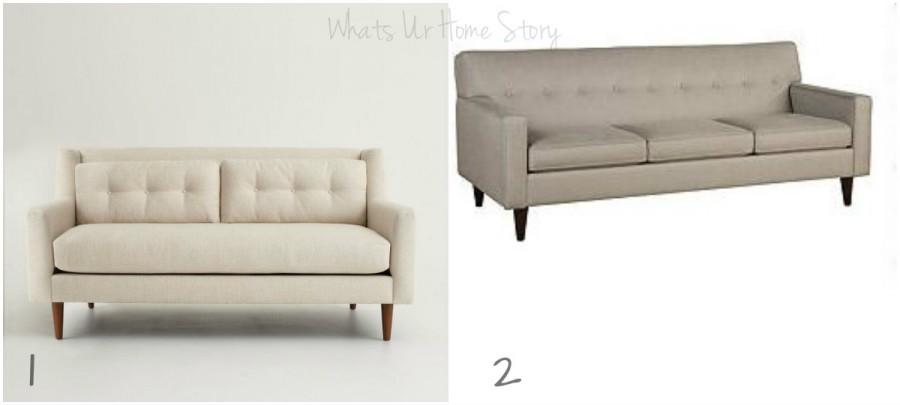 Whats Ur Home Story :Moder sofa, clean line sofa, contemporary sofa, transitional sofa, West Elm Crosby soda, Macys Clare sofa