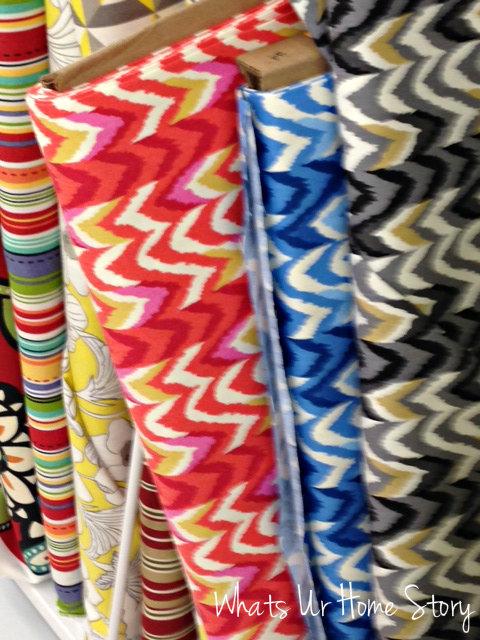Whats Ur Home Story: chevron print fabric