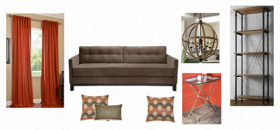 Rustic Modern Room, Open Family Room Decorating