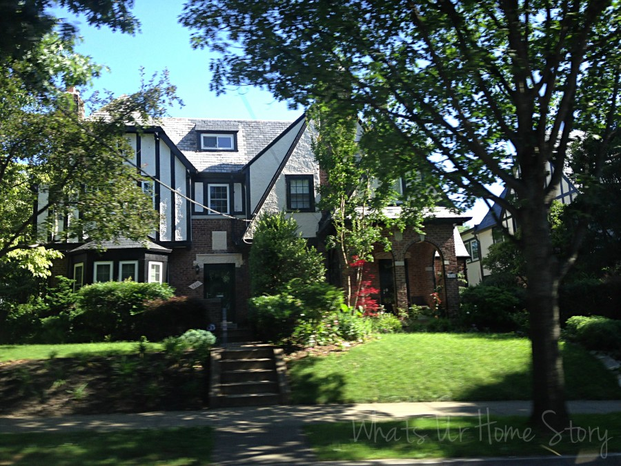 Whats Ur Home Story: Tudor home in DC, Van Ness St DC