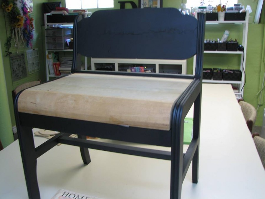 Mod podge bench, bench makeover, Mod Podge Bench