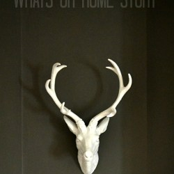 faux-deer-head-mounts,Deer Head, Faux Taxidermy, White Faux Taxidermy