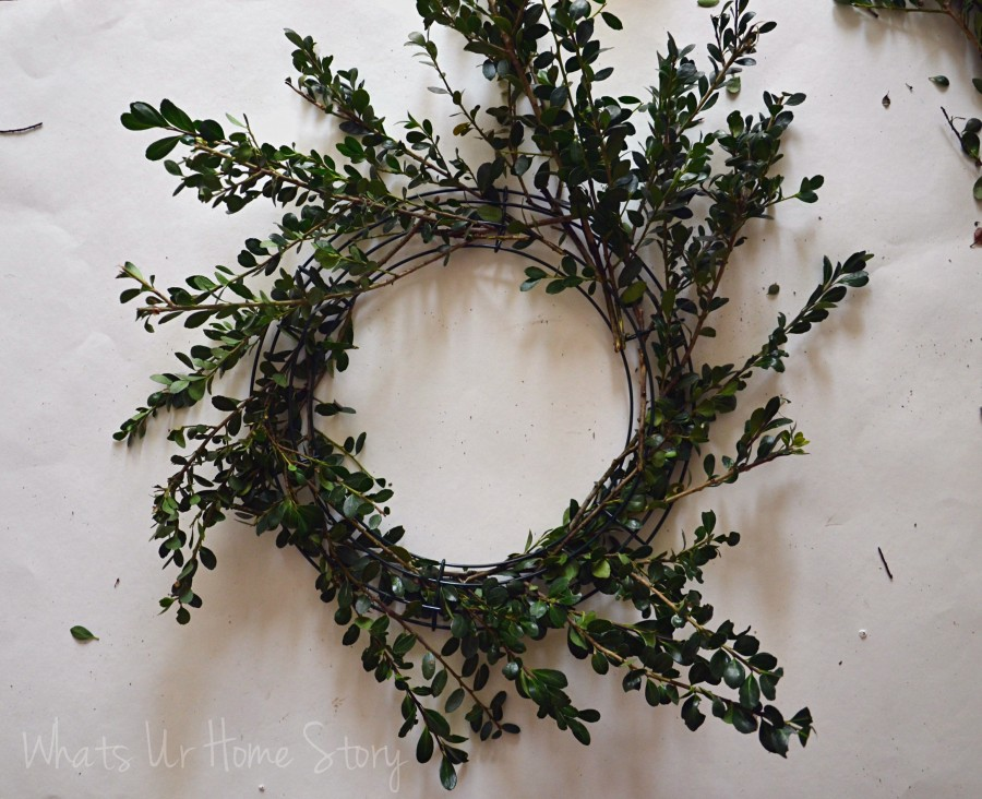 Whats Ur Home Story: boxwood wreath diy, how to make a boxwood wreath