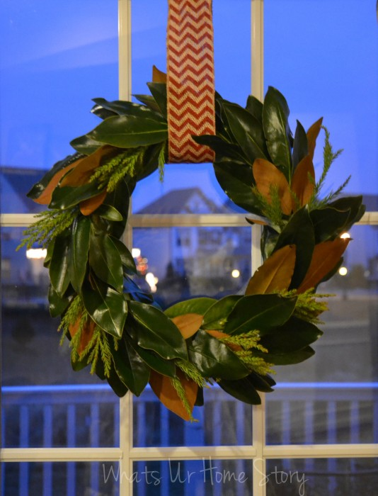 Whats Ur Home Story: Magnolia wreath diy, how to make a magnolia wreath, LIVE MAGNOLIA & FIR WREATH , Pottery barn magnolia wreath knockoff