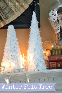 Winter felt tree, diy paper cone trees
