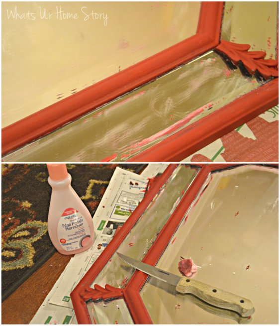 mirror makeover, diy mirror paint