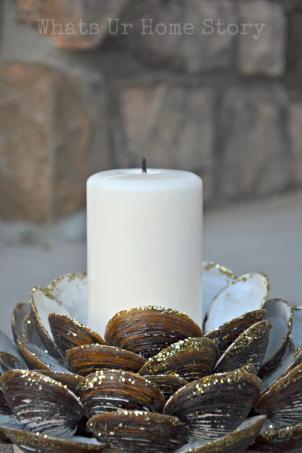 Seashell Candle Holder, Clam shell candle holder, seashell crafts, beach decor