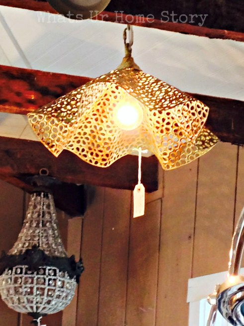 bowl chandelier, vintage hip decor