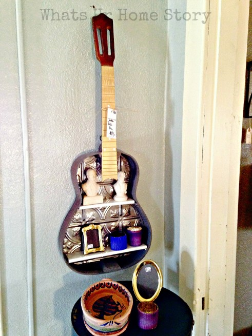 guitar shelf, vintage hip decor