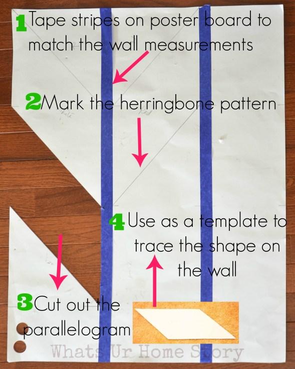 herringbone ceiling pattern template