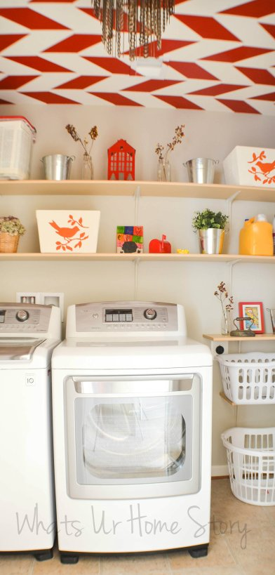 diy wall shelves for laundry room, DIY Shelves for the Laundry Room