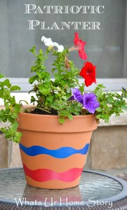 patriotic planter, diy wave planter
