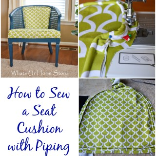 sew a seat cushion with piping