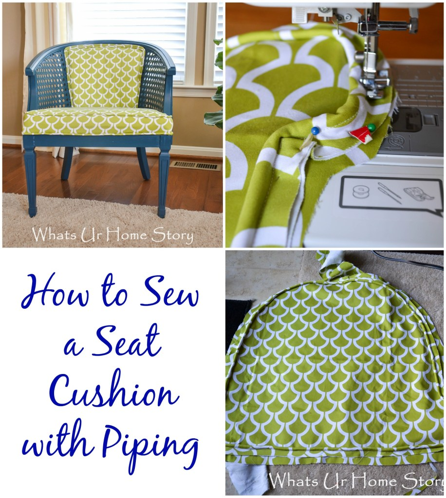 sew a seat cushion with piping, How to Sew a Seat Cushion with Piping