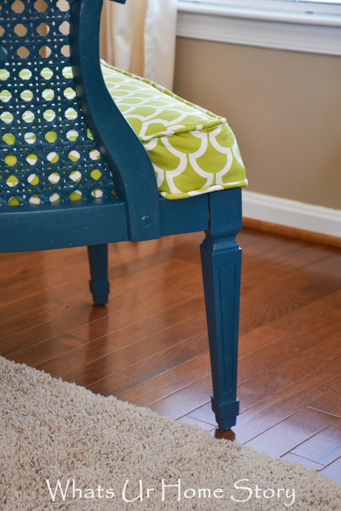 vintage cane chair makeover