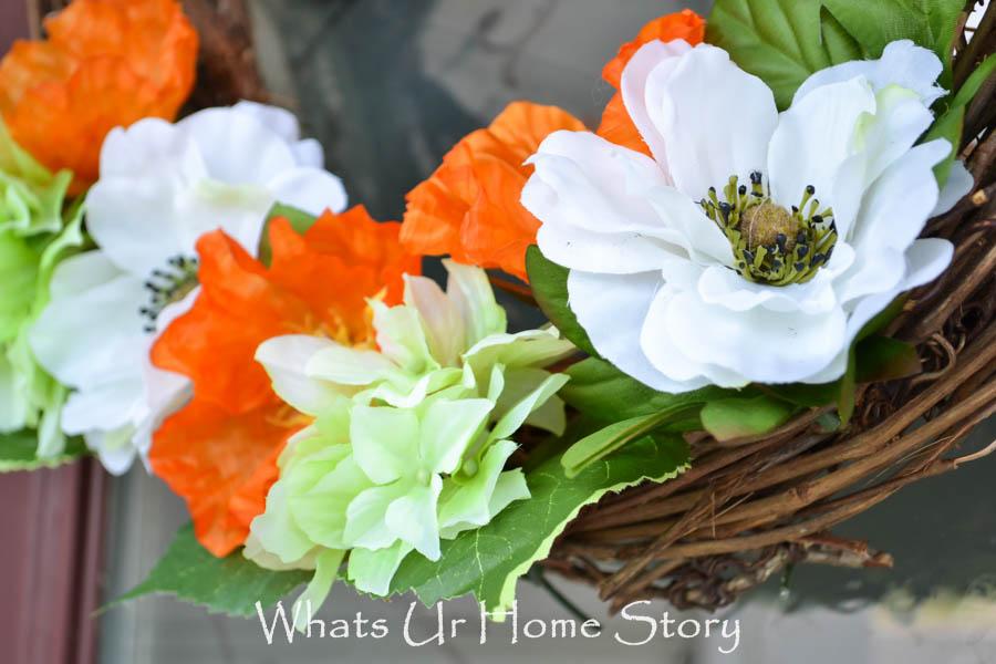 summer poppy wreath