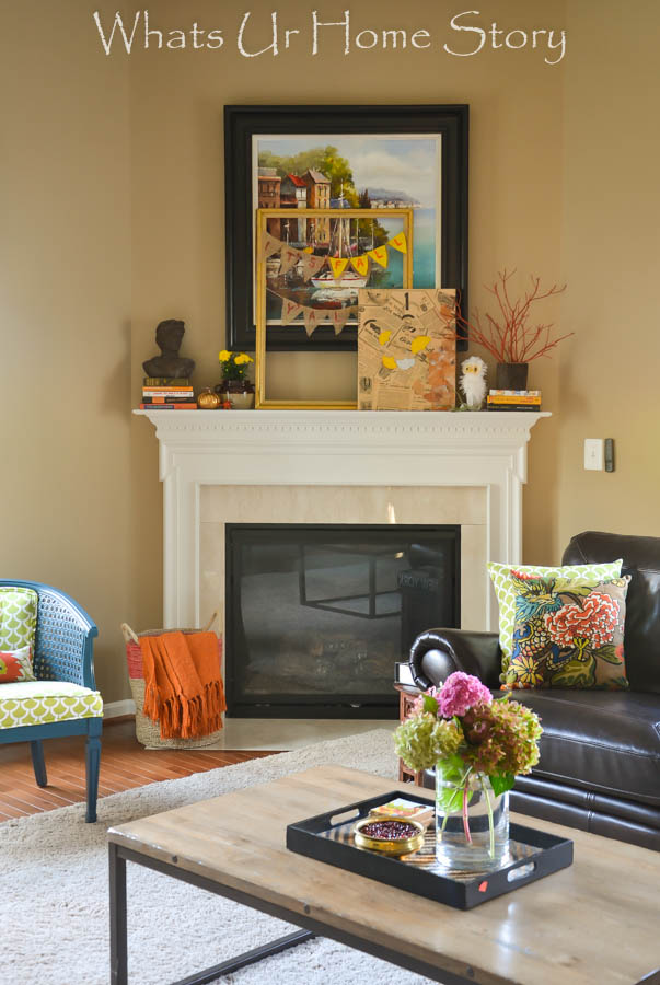 Simple Fall Mantel Decorating, 2014 Fall Mantel