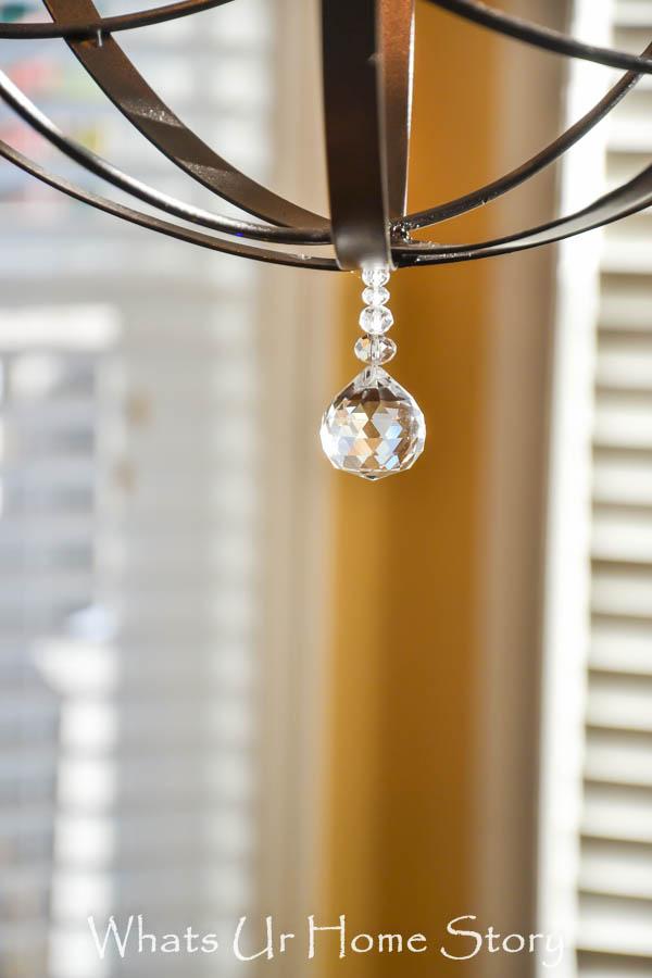 orb chandelier crystal