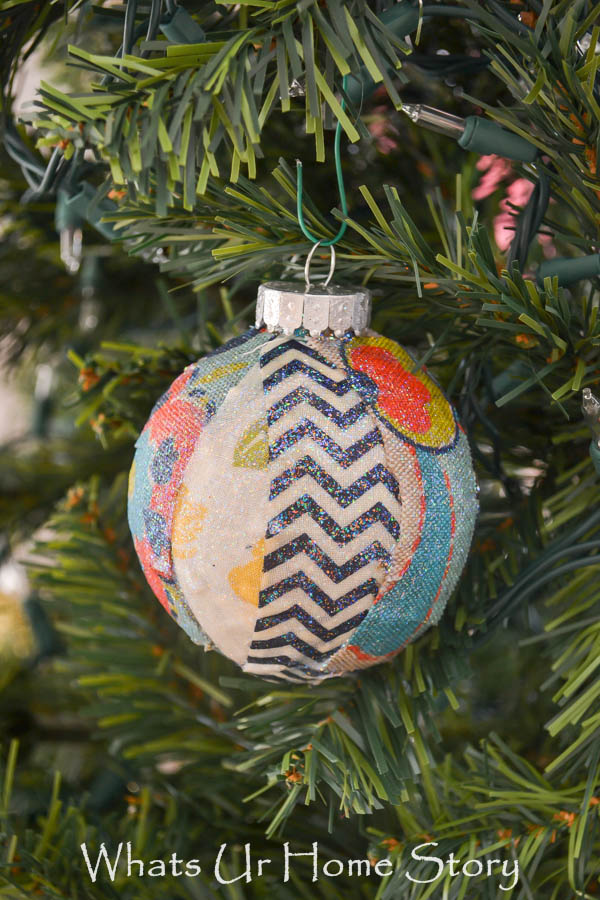 Christmas Ornaments made with fabric scraps
