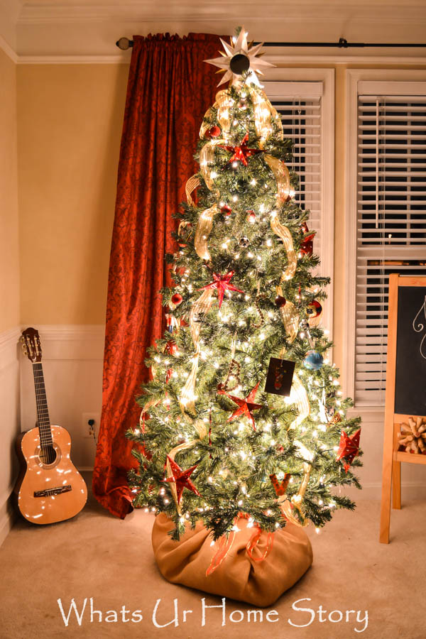 Starry Night Christmas Tree- Whats Ur Home Story