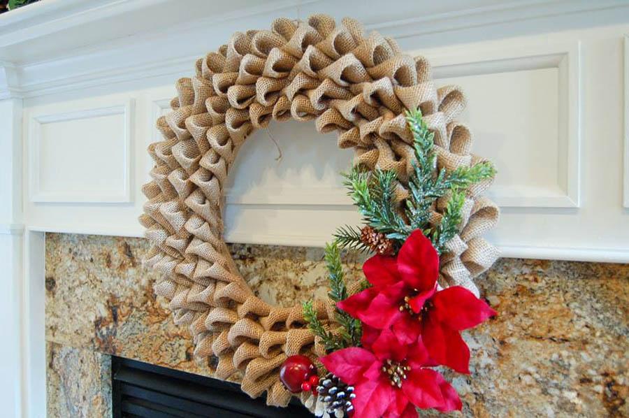 Bubble Burlap Wreath