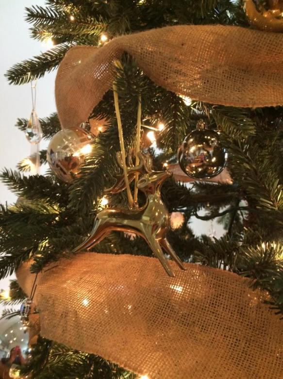 Rustic Glam Golden Ornaments,  Rustic Glam Christmas Decor