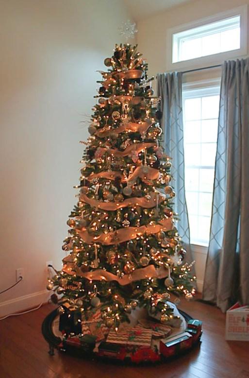holiday home tour - Rustic Glam Christmas Tree, Rustic Glam Christmas Decor
