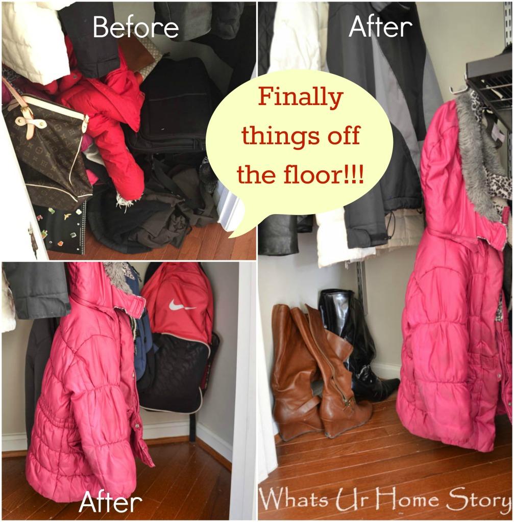how to organize a coat closet with Elfa