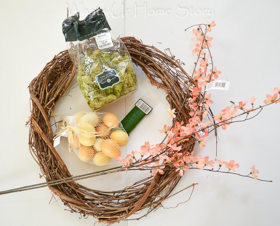 easy spring wreath diy