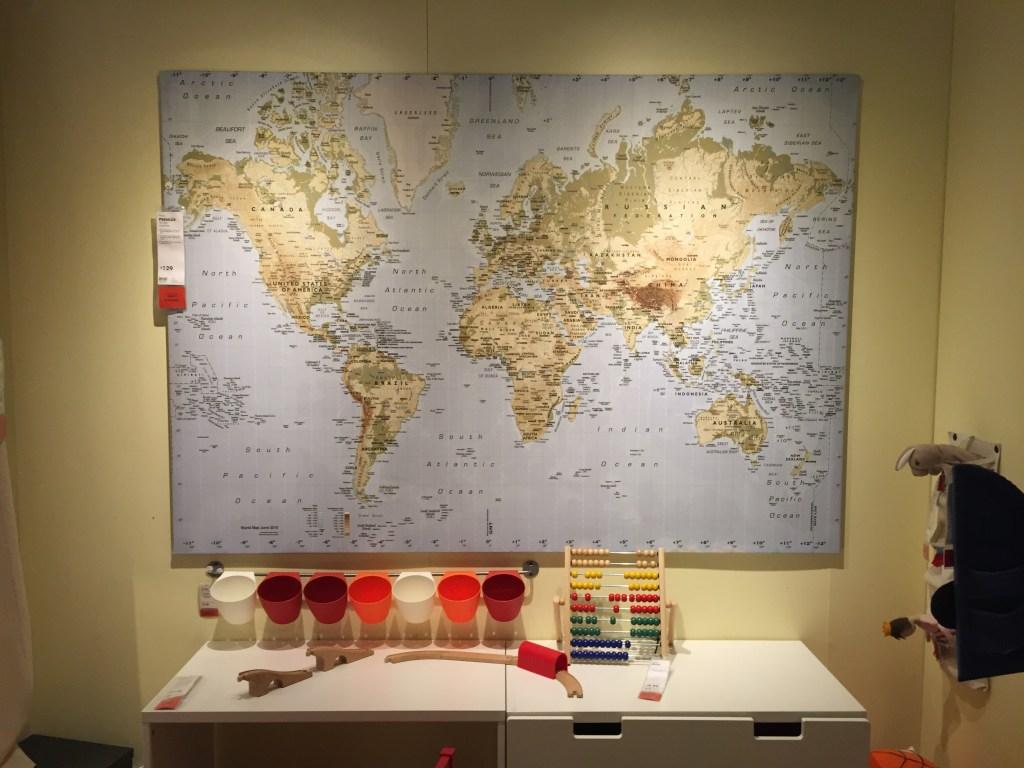 large world map ikea