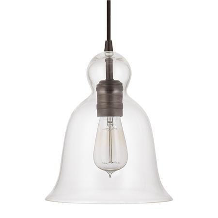 bell curve glass pendant