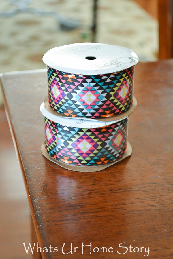tribal print ribbon