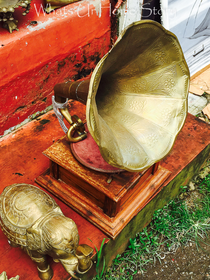 antiquing in Jew town-Brass gramaphone