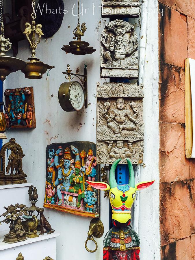antiquing in Jew town-indian handicrafts