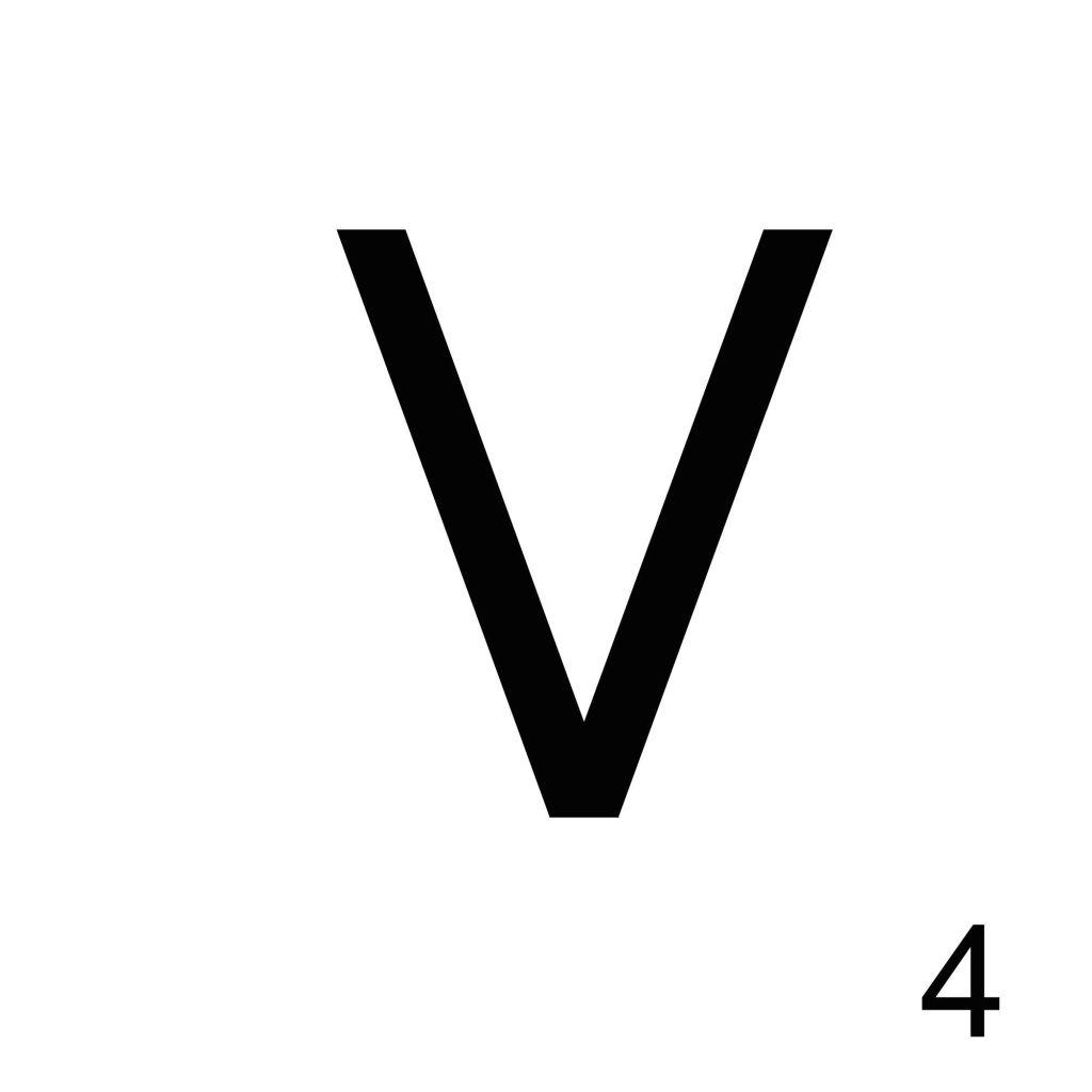 Scrabble Letter V_ Whats Ur Home Story