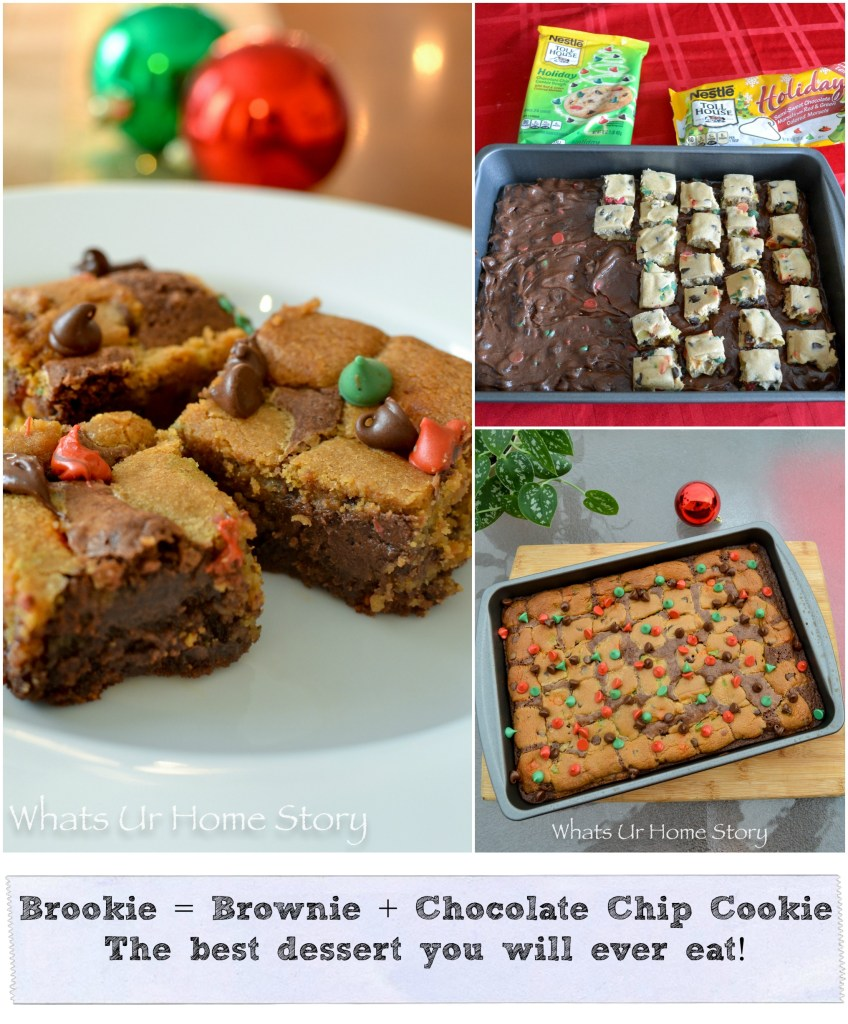 Brookie = Brownie + Chocolate Chip Cookie; the best dessert you will ever eat!