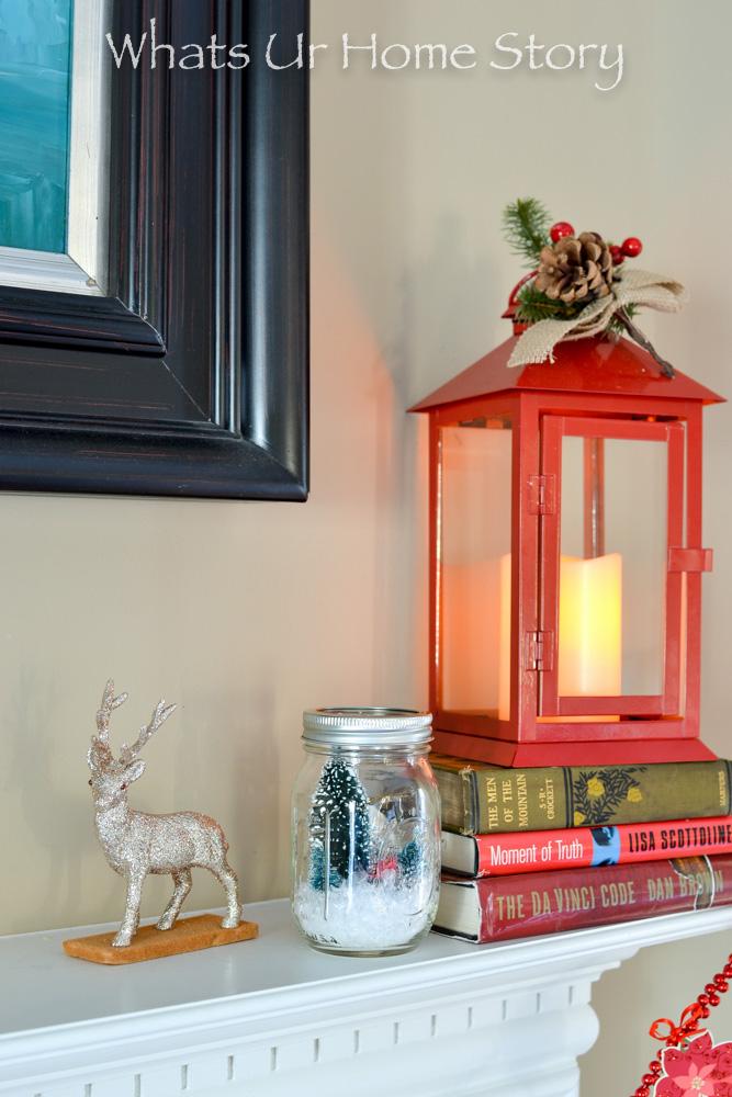 Mason jar snow globe or mason jar Christmas cloche