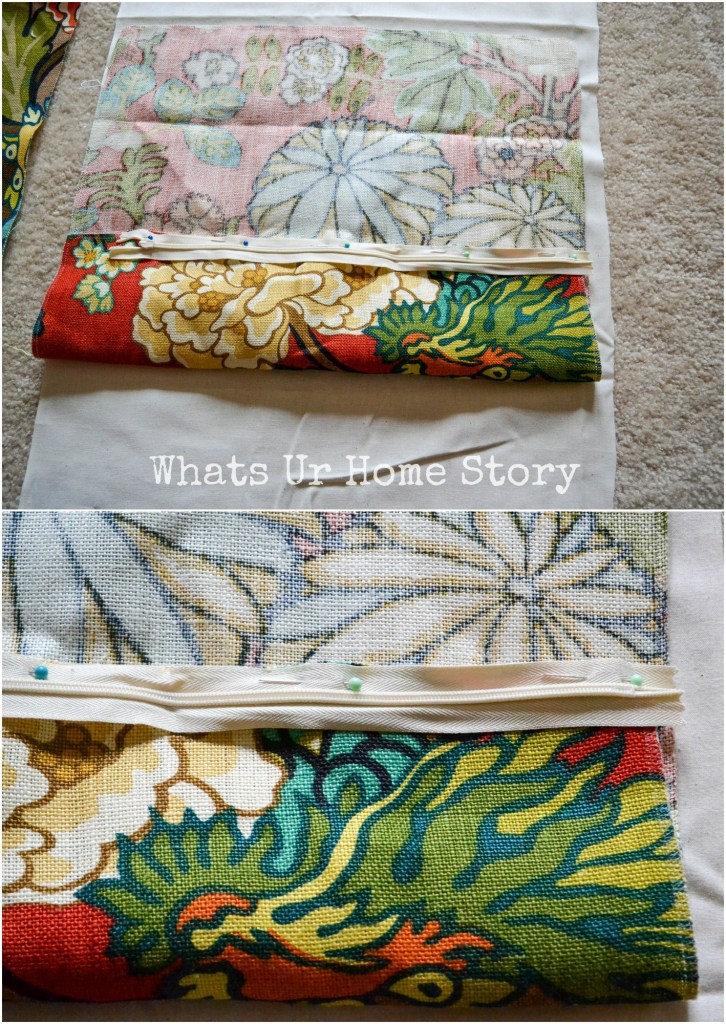 tutorial on how to sew a pillow cover with zipper