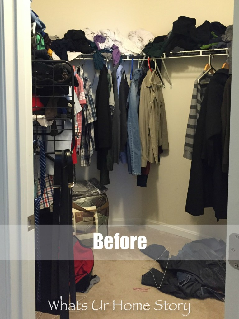 His closet makeover-before